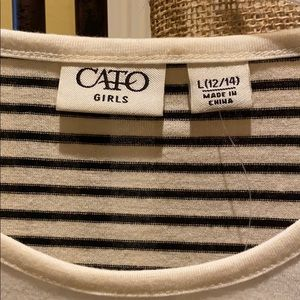 "Cato Shirts & Tops - Cato girls ""Paris"" long sleeve tee"